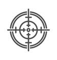 Aim line icon vector image