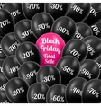Black Friday Realistic black vector image