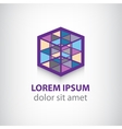 colorful cube construction logo vector image