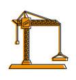 construction crane icon image vector image