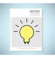 Cover report light bulb idea vector image