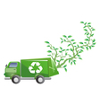 Green car with tree vector image