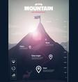 mountain peak infographic vector image