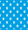 traditional korean pagoda pattern seamless blue vector image