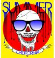 skull wearing sunglasses vector image