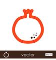 Garnet outline icon Fruit vector image