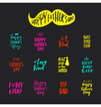 Fathers Day Lettering vector image