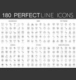 180 modern thin line icons set of household baby vector image