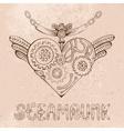 steampunk heart vector image