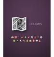 Flat design modern of brand identity style vector image