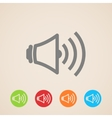 speaker volume icons vector image