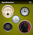 speedometers icons vector image vector image