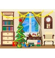 new year room vector image
