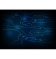 Dark blue circuit board technology background vector image