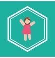 baby girl child vector image