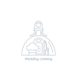 Bride linear icon reception arrangement vector image