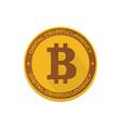 cartoon golden bitcoin vector image
