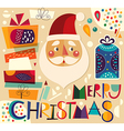 Christmas gifts and Santa vector image