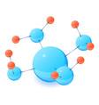 complex molecule icon isometric 3d style vector image