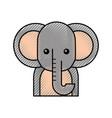 cute cartoon elephant animal wildlife vector image