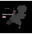 Detailed map of Netherlands and capital city vector image