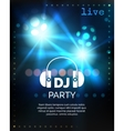 dj party poster template vector image