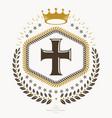 heraldic design vintage emblem vector image