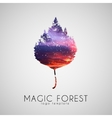 Magic forest logo Leaf trees logo Beautiful logo vector image
