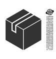 package icon with men bonus vector image
