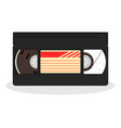 retro video cassette isolated on a white vector image