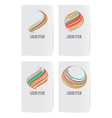 Set of design elements for business card template vector image