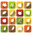 Set of square autumn icons vector image
