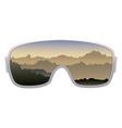 Ski goggles vector image