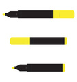 Yellow marker set vector image