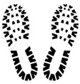 Footstep icon vector image