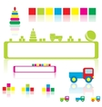Baby toys and frames vector image vector image