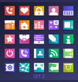 colorful flat square icons-set 2 vector image
