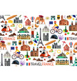 france landmarks and travel map vector image