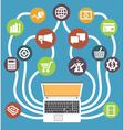 Social media payments Online shopping vector image