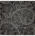 Seamless dark texture with flower vector image