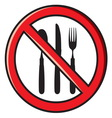No food1 vector image vector image