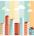 city in flat simple style vector image