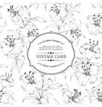 Vintage label card vector image