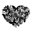 butterflies in the shape of heart vector image vector image