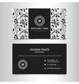 elegant wedding agency business card vector image