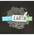 Happy Earth Day Poster Tree rings symbolic on the vector image vector image