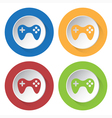 set of four icons - gamepad vector image