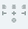 Alignment icon set vector image
