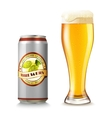 Beer Glass And Can vector image