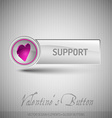 button with pink heart Modern design elements with vector image